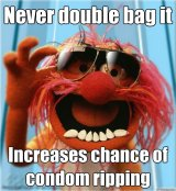 Please Take Note: 2 Condoms = LESS PROTECTION (V. Imp!)