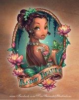 Disney Princess Pinup Girl Tattoo –Tiana!