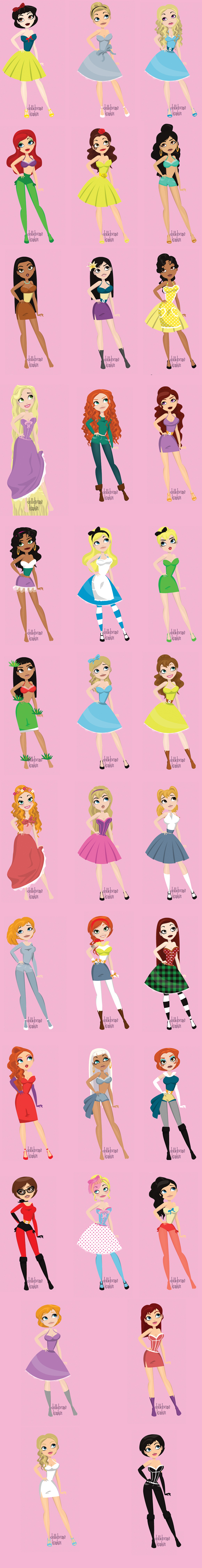 Can you name all of these disney heroines corinawrites