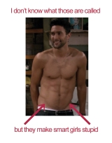 Big Image – 2 Broke Girls Quote & Yummy Shirtless Noah Mills