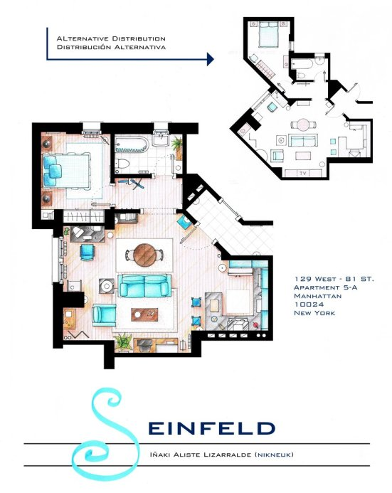 TV Floorplans How I Met Your Mother The Big Bang Theory
