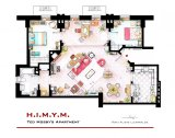 TV Floorplans – How I Met Your Mother, The Big Bang Theory, Friends, Sex and the City