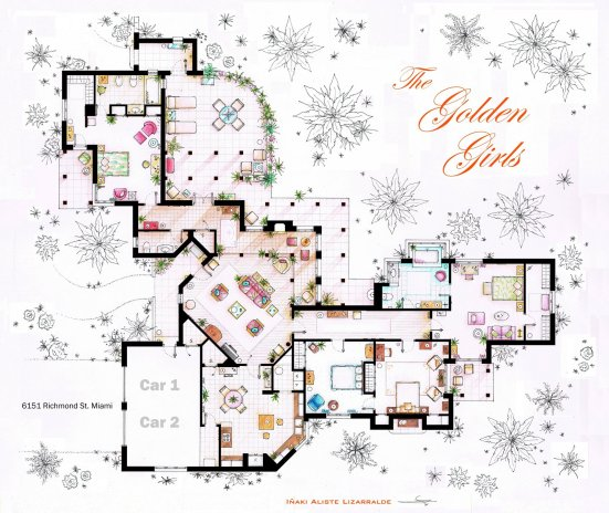 Tv floorplans how i met your mother the big bang theory friends golden malvernweather Image collections