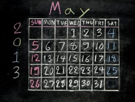 16601100-calendar-may-2013-on-a-blackboard