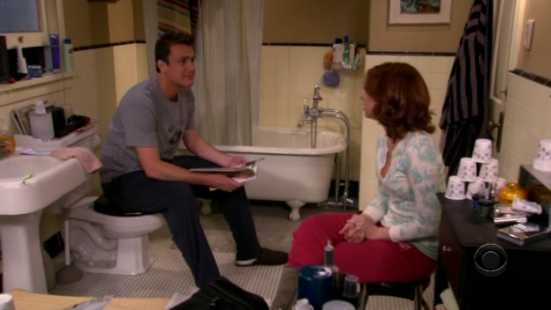 Marshall_and_Lily_trapped_in_bathroom